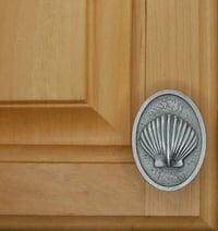 scallop cabinet knob bezel - vertical