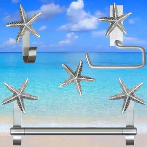 Starfish Cabinet Knob and Hardware Collection - Brushed nickel finish