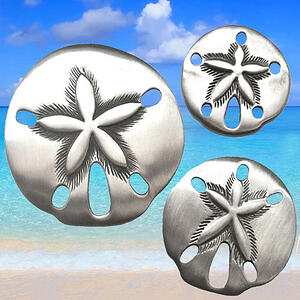 Sand Dollar Cabinet Knobs | Small Medium and Large size