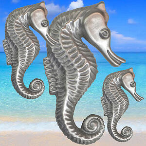 Seahorse Cabinet Knob small medium and large sizes