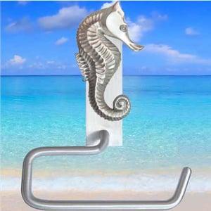 Seahorse toilet paper hanger