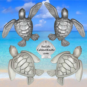 Turtle Cabinet Knob small medium and large size