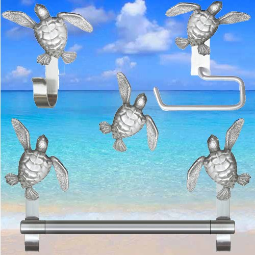 Turtle Cabinet Knobs for Beach Bathroom Decor