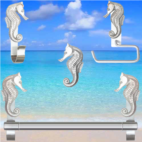 Seahorse cabinet  knobs and pulls for coastal kitchens and bathrooms
