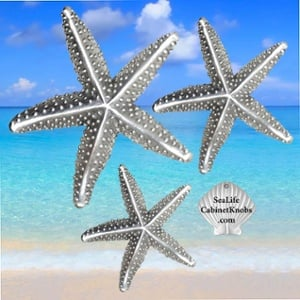 Enhance your beach bathroom decor part 3 [with starfish cabinet knobs]